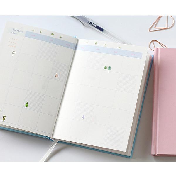 Sổ tay planner 365 Itoya, bìa xanh ánh tím, 228 trang
