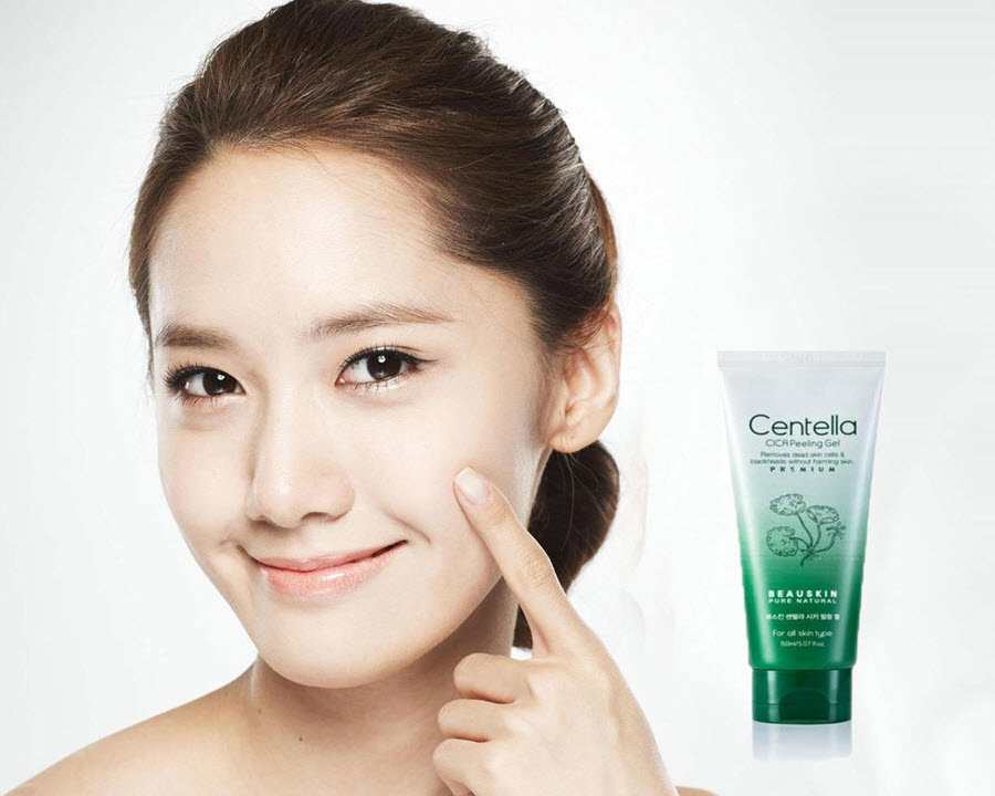 Gel làm sạch da mặt cấp ẩm dưỡng mềm da trắng mịn giúp tái tạo phục hồi da Beauskin Centella CICA Gel, Hàn Quốc 150ml