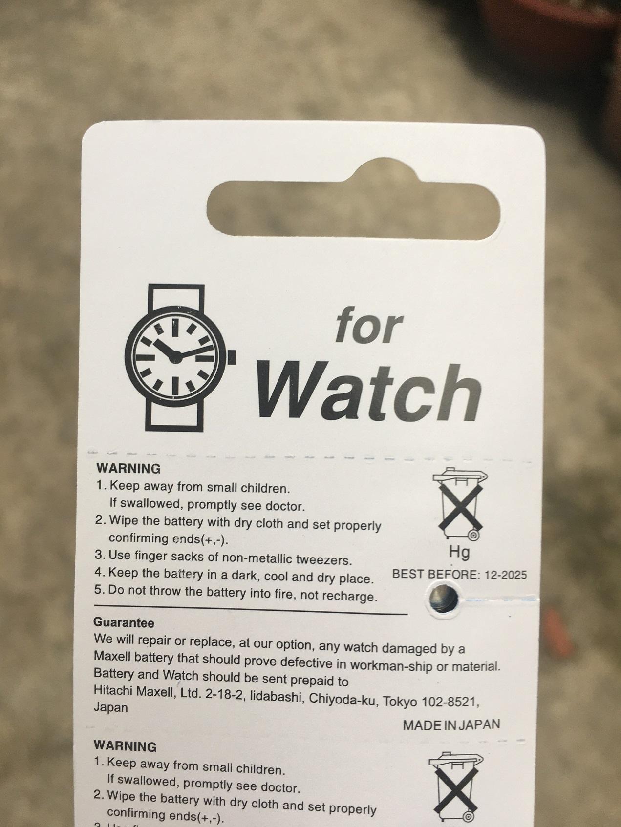 Pin Đồng hồ đeo tay Maxell SR621SW 1.55V 364 vỉ 5 viên