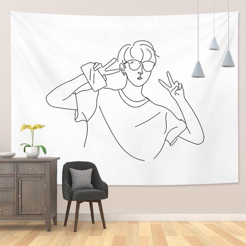 Tranh vải decor treo tường BW Simple Love