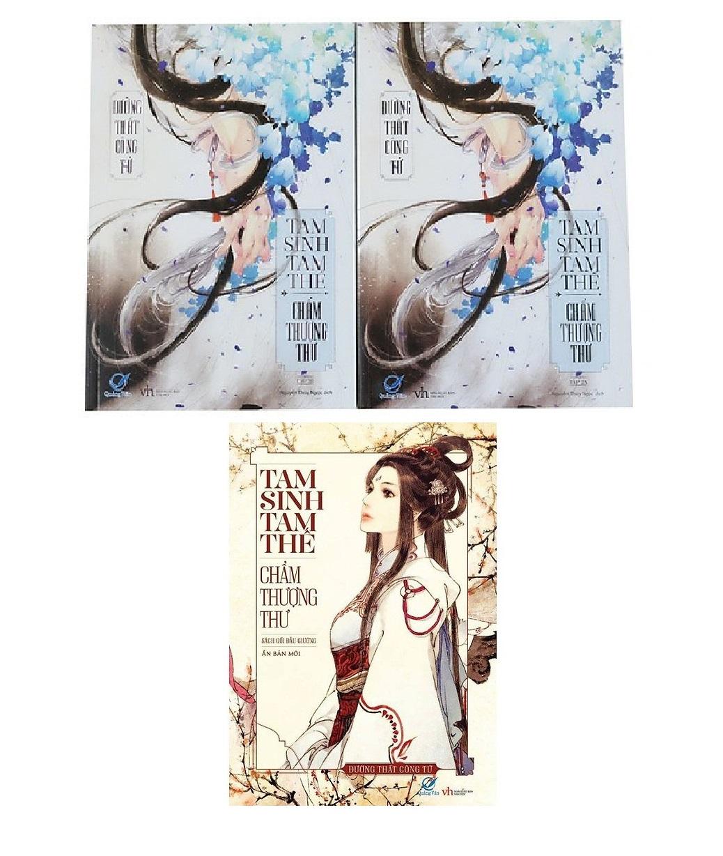 Sách Combo Tam Sinh Tam Thế Chẩm Thượng Thư tập 1/ Tam Sinh Tam Thế Chẩm Thượng Thư  Tập 2A và 2B/ Tam sinh tam thế thập lý đào hoa /Quạt Nhựa Tái bản mới 2020