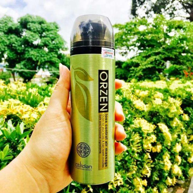 Tinh chất massage Obsidian Professional Orzen Loss Control Hair Air Massage kích thíc mọc tóc Hàn Quốc 180ml tặng kèm móc khoá