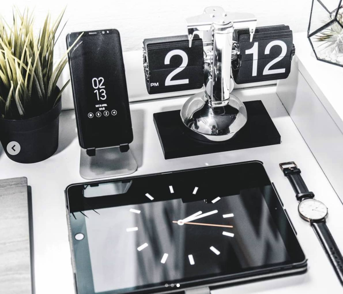 Đồng hồ lật dáng retro Mac Setup