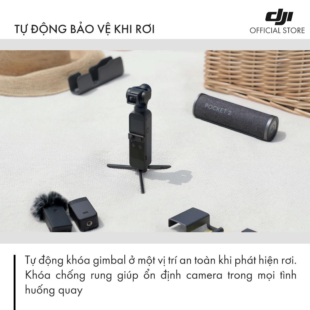 Máy quay phim DJI Osmo Pocket 2 Chống Rung 4K 60fps Basic -  Hàng Chính Hãng - Bảo Hành 12 Tháng