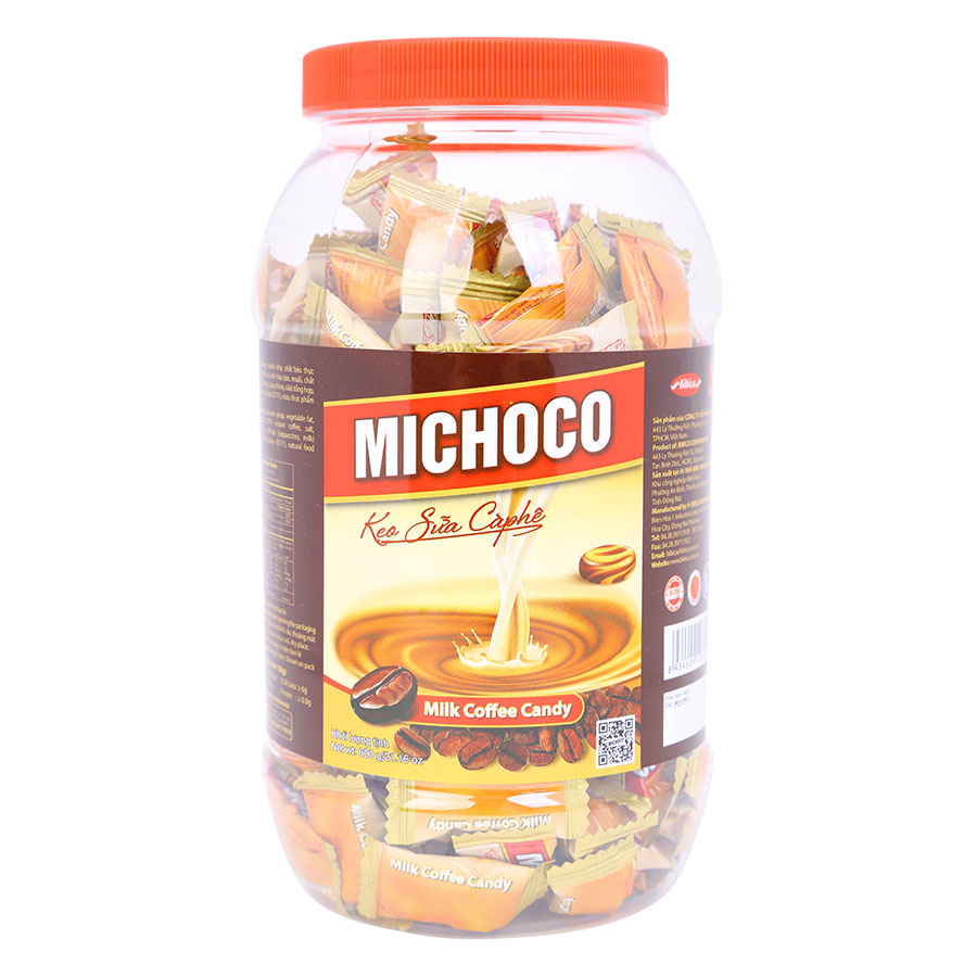 Kẹo Sữa Cà Phê Michoco Bibica (600g / Hũ) - 8934609106820,62_1651287,56000,tiki.vn,Keo-Sua-Ca-Phe-Michoco-Bibica-600g--Hu-62_1651287,Kẹo Sữa Cà Phê Michoco Bibica (600g / Hũ)