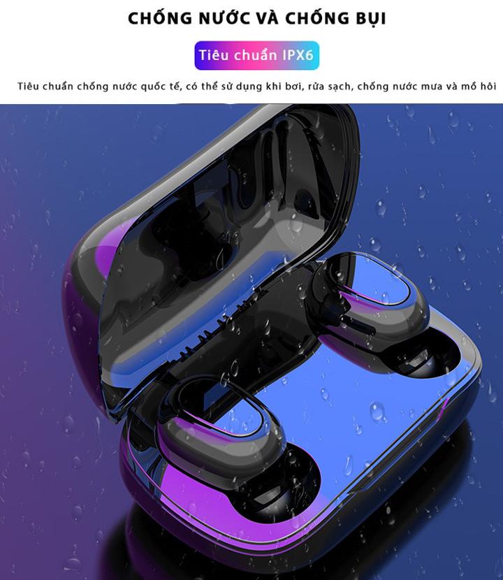 Tai nghe L21 Bluetooth 5.0 Kiềm Sạc Dự Phòng