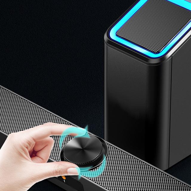 Loa Thanh Siêu Trầm Bluetooth Gaming Soundbar D238 Hỗ Trợ BASS, Cổng Kết Nối USB, Jack 3.5 Dùng Cho Máy Vi Tính PC, Laptop, Tivi