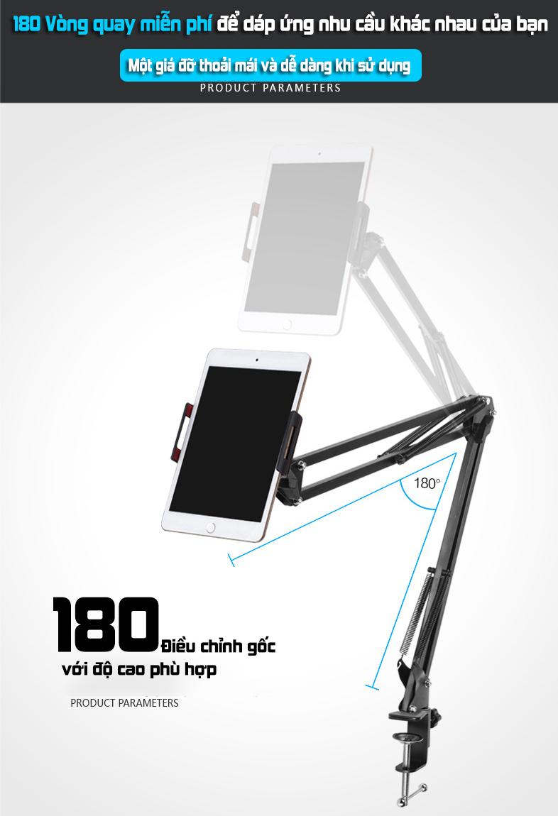 Giá đỡ điện thoại Ipad,máy tính bản đa năng PKCB PF88 - Hàng chính hãng