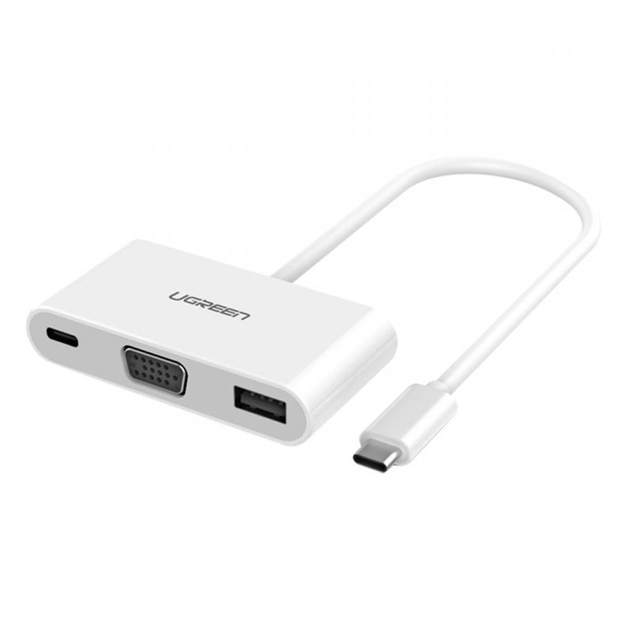Cáp chuyển đổi USB Type C sang VGA và USB 3.0 Cao cấp Ugreen - hàng chính hãng