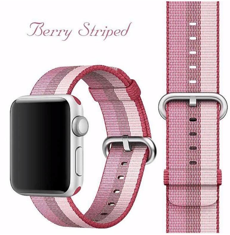 Dây đeo cho Apple Watch - Woven nylon - HỒNG SỌC 38/44mm
