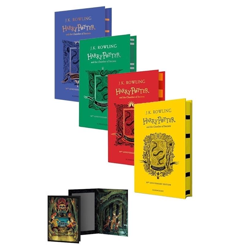 Combo Harry Potter And The Chamber Of Secrets 4 Cuốn - Hardback + Quà Tặng Đặc Biệt (Số Lượng Có Hạn)