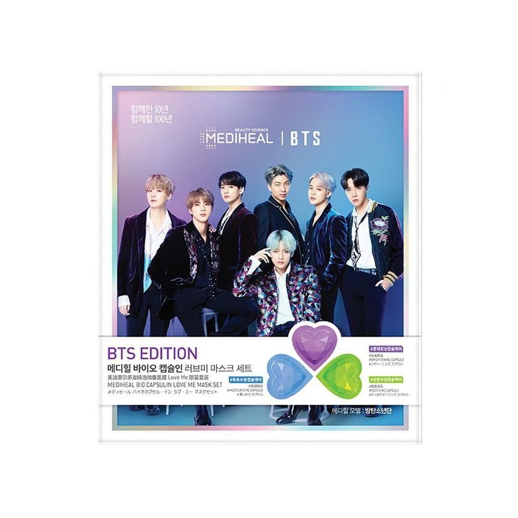 Set 3 mặt nạ Mediheal BTS Bio Capsulin Love Me Mask Set 1st Edition (3 sheets)