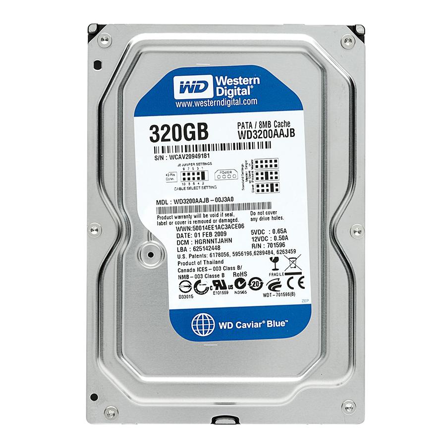 Ổ Cứng HDD Western WD 320GB Blue 3.5 inch SATA3  - Hàng Nhập Khẩu