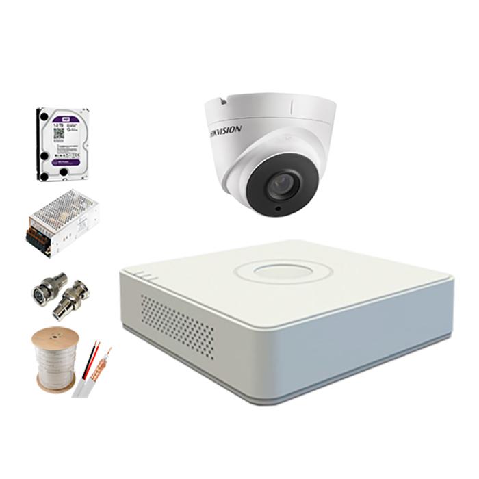 Trọn Bộ Camera 5.0MP Hikvision Hồng Ngoại 20 Mét [1 Mắt Camera] - Hàng chính hãng