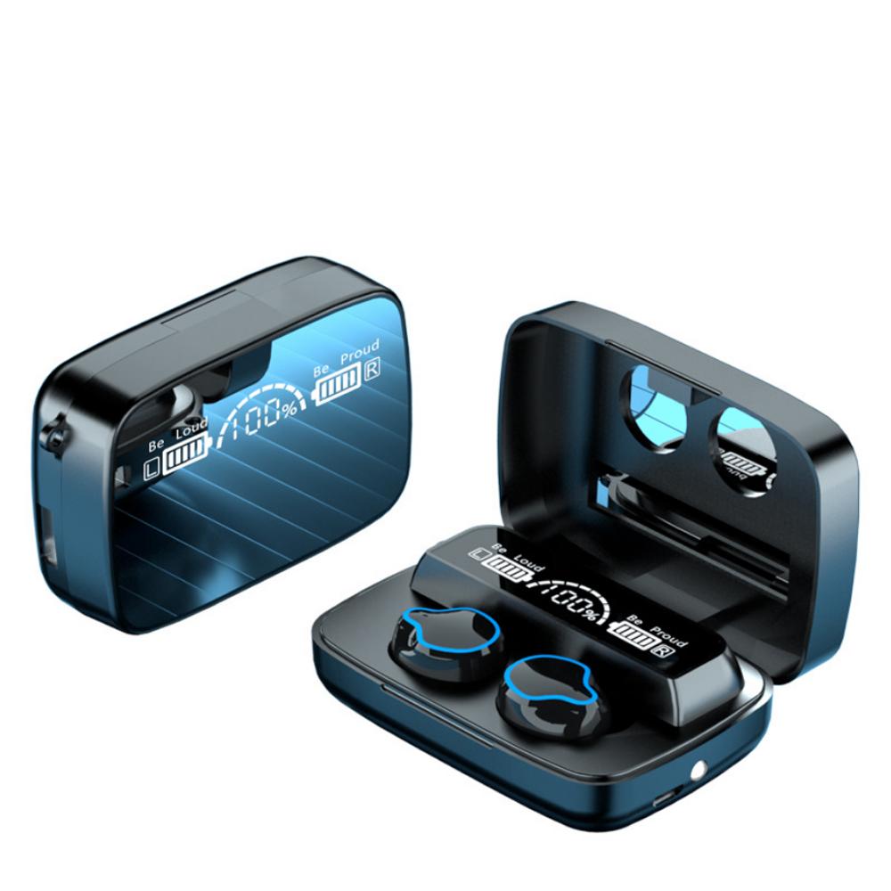 Tai nghe Bluetooth M9, tai nghe không dây cảm ứng thông minh. âm thanh HiFi trung thực, màn hình hiển thị sắc nét, tích hợp thêm đèn pin soi sáng- Hàng nhập khẩu
