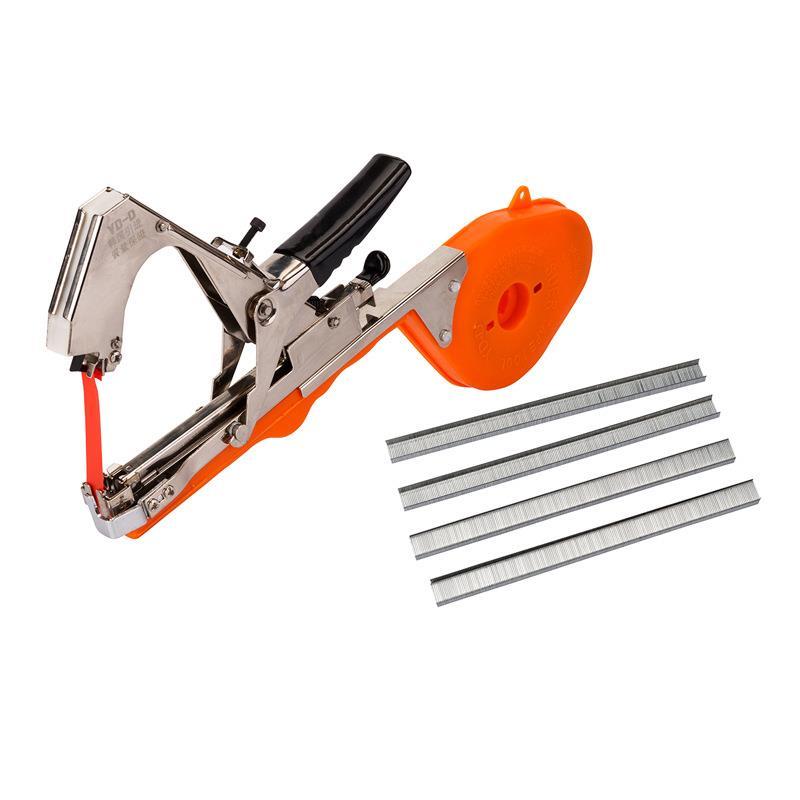 Combo Máy buộc dây cà chua + 40 cuộn Cuộn băng cho máy buộc dây Tape tool cuộn dài 35m + Hộp 10'000 ghim - Màu ngẫu nhiên