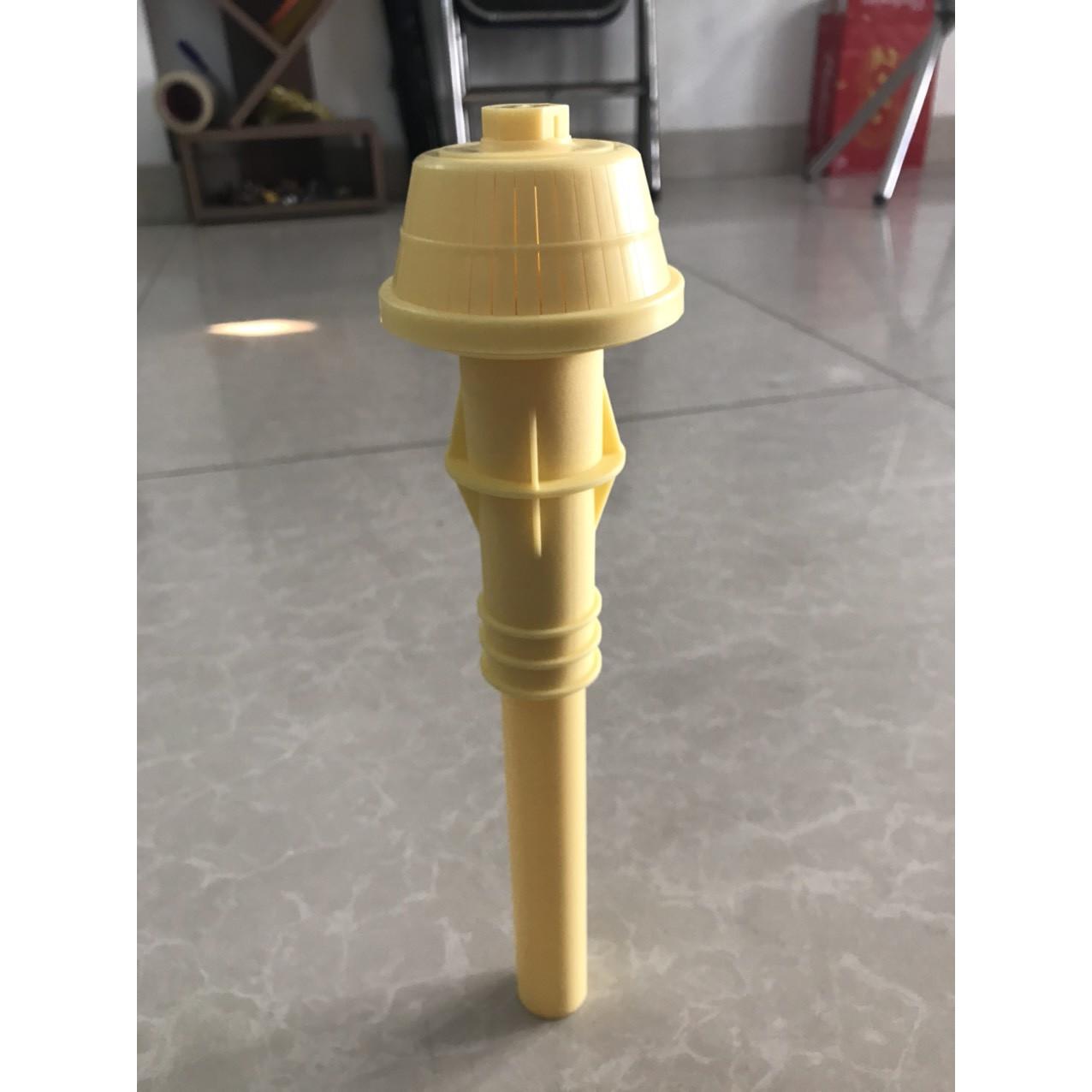 Chụp lọc nước ngắn màu vàng  F 0505/ ABS - có rãnh thổi gió