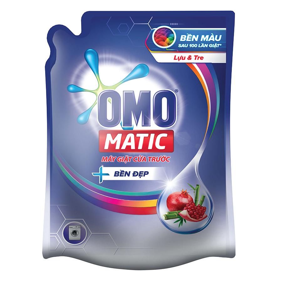 Nước Giặt OMO Matic Bền Đẹp Lựu Và Tre Cho Máy Giặt Cửa Trước 2.3kgTúi