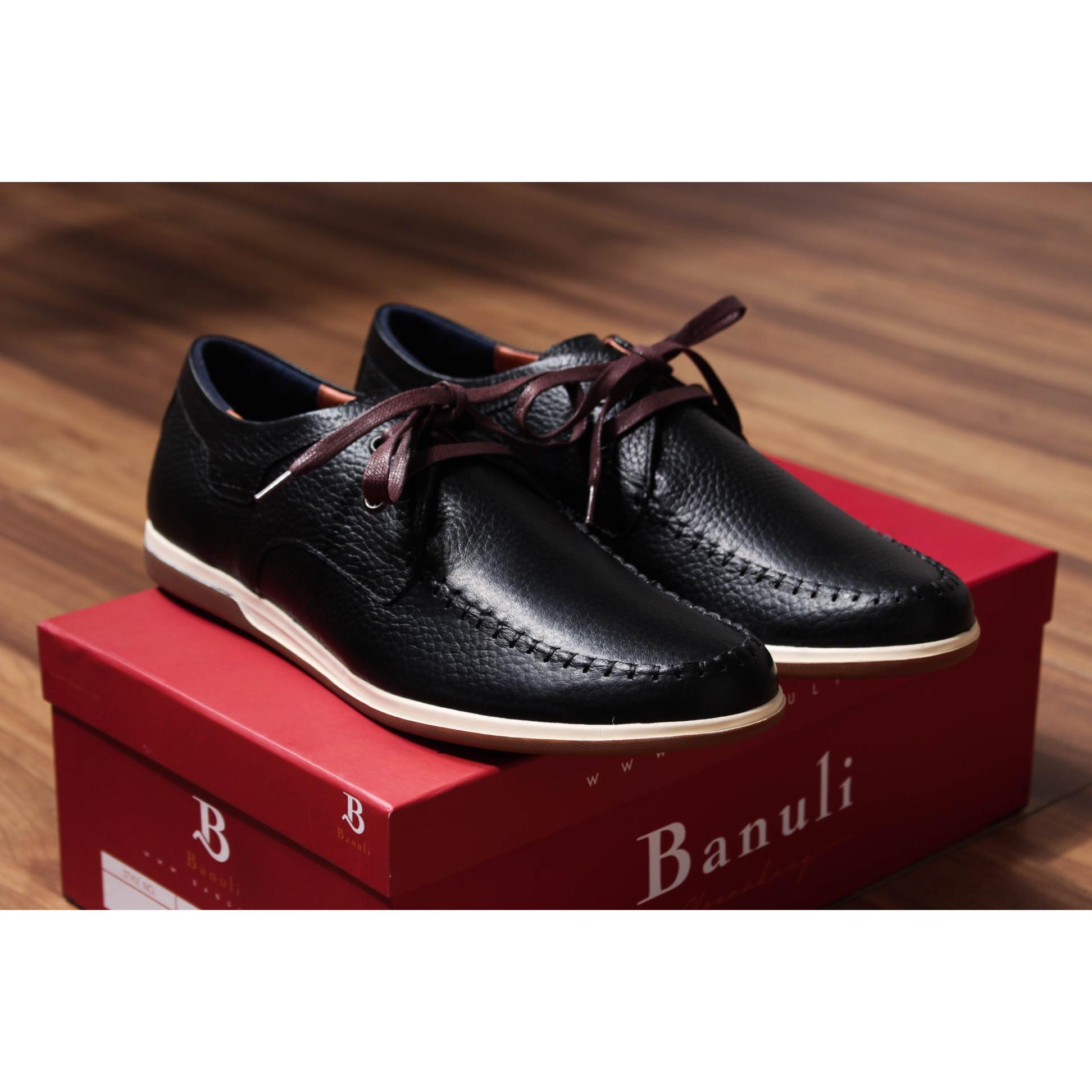 Giày nam cao cấp, phong cách giày sneaker thể thao D1SN1T0 da bò Banglades, chính hãng Banuli