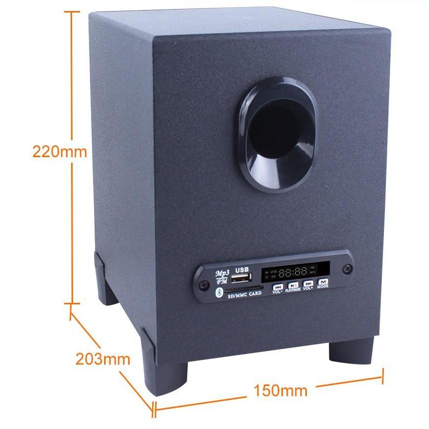 Loa vi tính 2.1 kiêm Bluetooth Kisonli TM-6000U hỗ trợ nghe USB/Thẻ nhớ (HÀNG CHÍNH HÃNG)