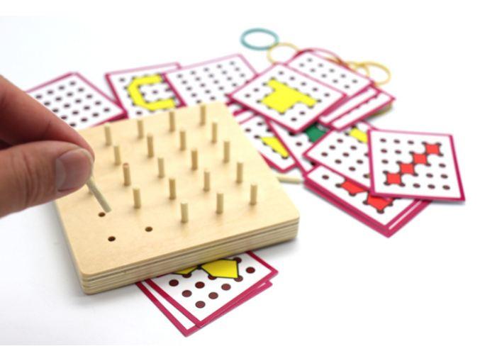 Đồ chơi gỗ- BẢNG CHUN GỖ TẠO HÌNH DẠNG THEO THẺ