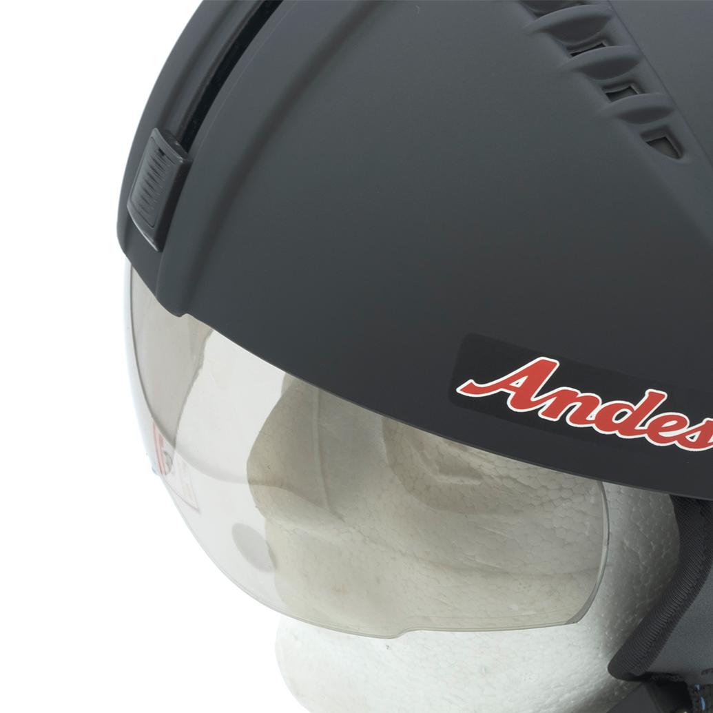 Mũ Bảo Hiểm Nửa Đầu Andes 181 Trơn Giấu Kính