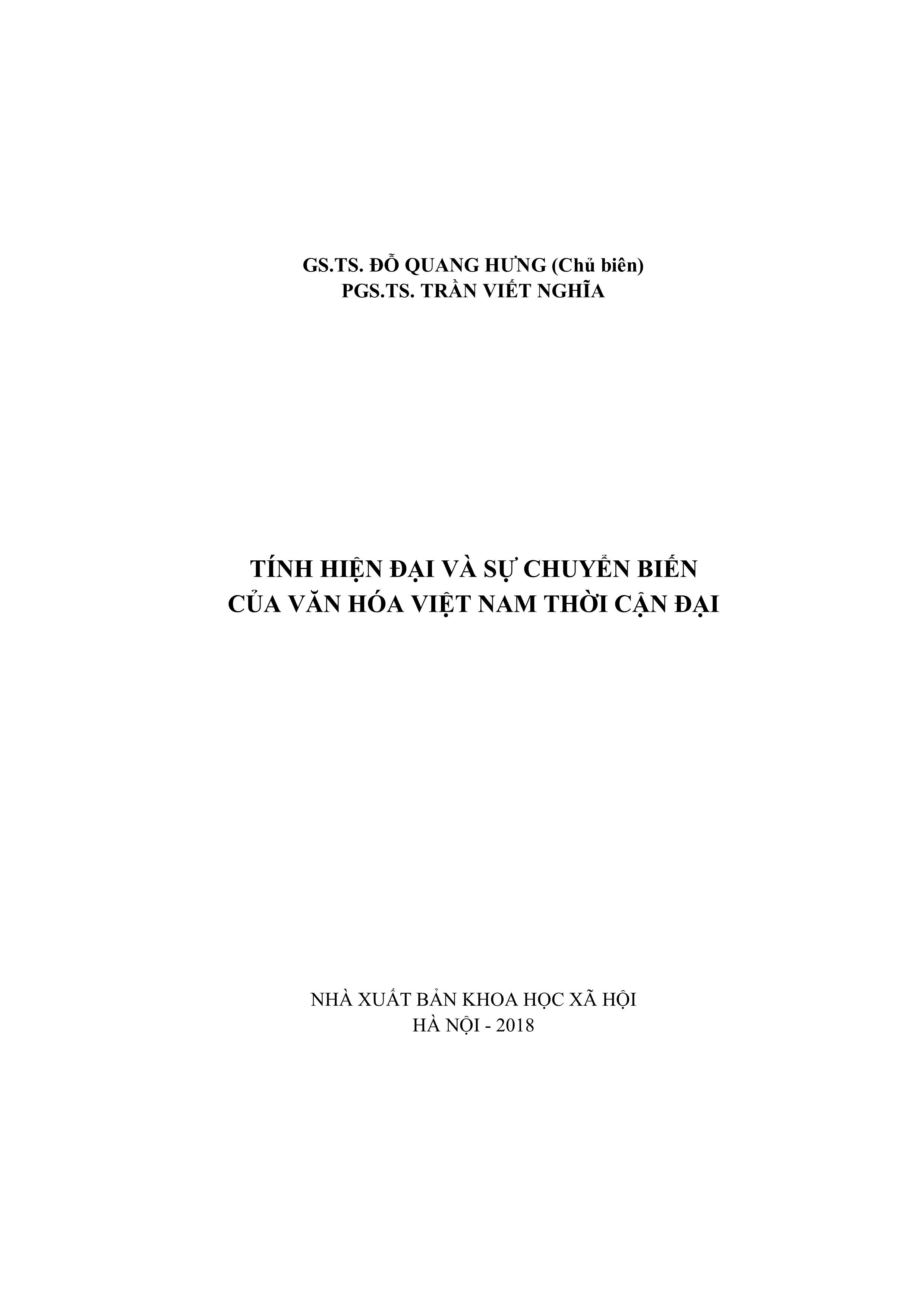 Tính Hiện Đại Và Sự Chuyển Biến Văn Hóa Việt Nam Thời Kỳ Cận Đại