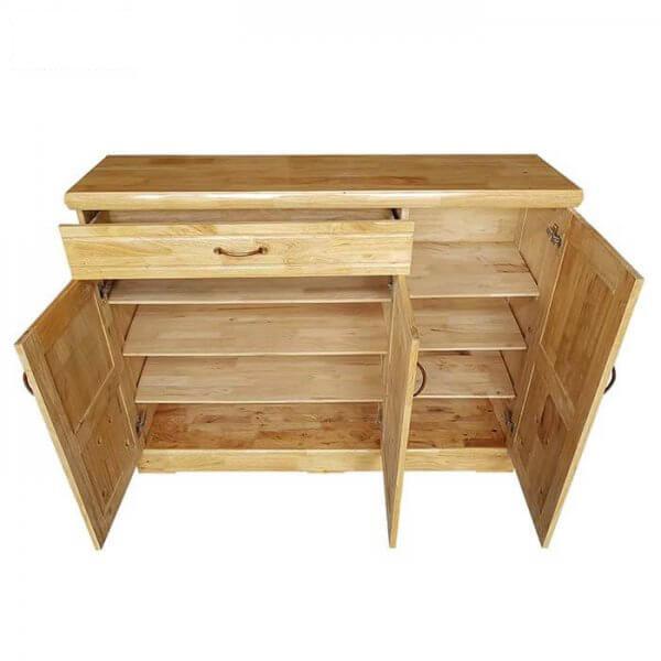 Tủ giày dép gỗ thông 1m