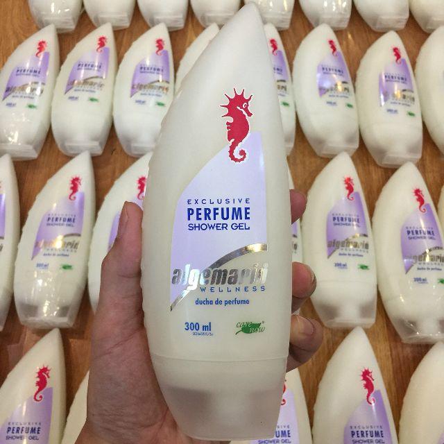Combo 2 chai sữa tắm cá ngựa Algemarin Perfume Shower Gel (300ml x 2) - Nhập khẩu chính hãng