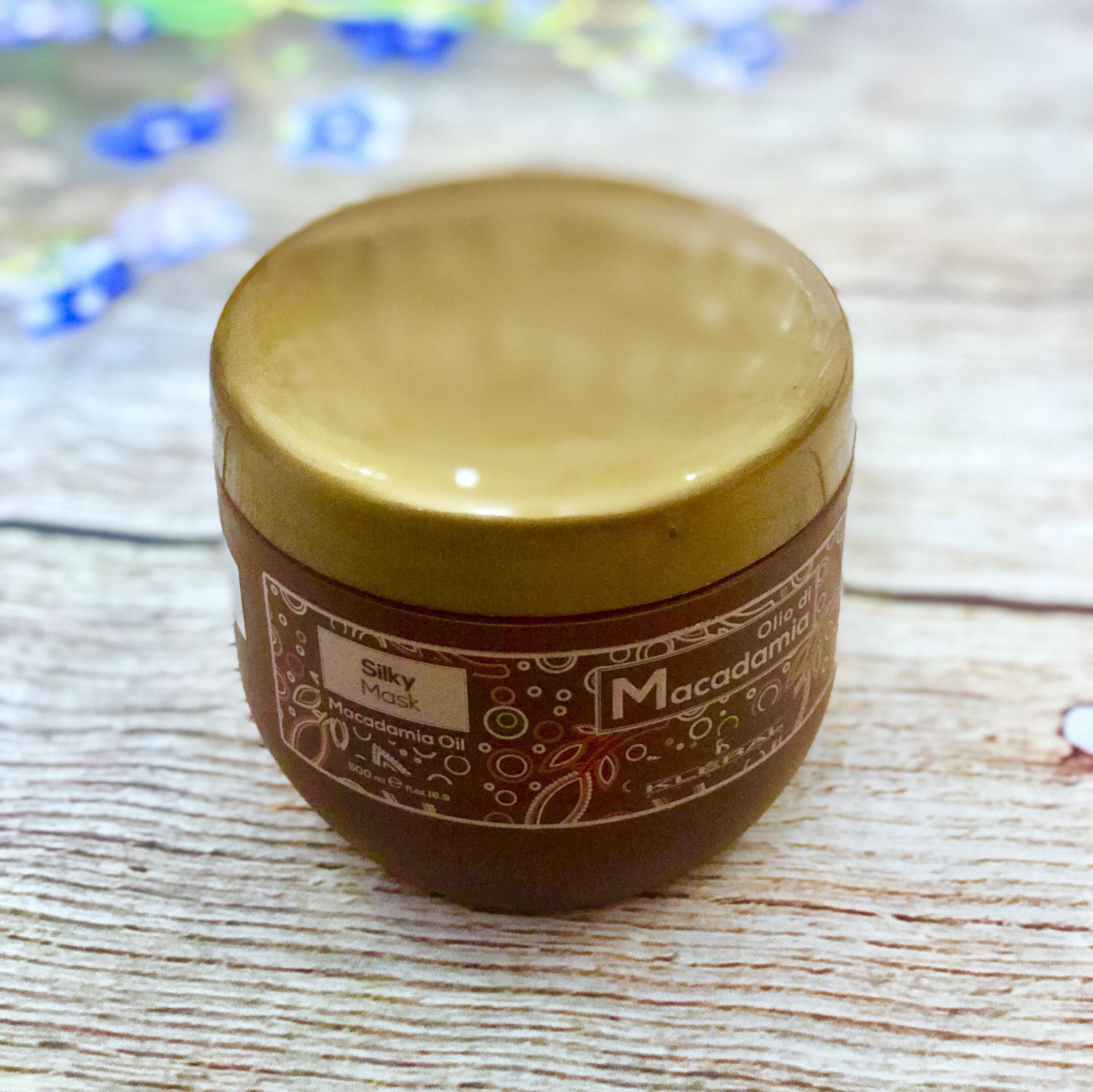 Mặt nạ lụa ủ tóc Kleral Olio Di Macadamia Silky Mask phục hồi tóc siêu mượt Italy 500ml