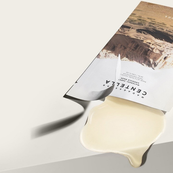 Combo 5 Mặt Na Giấy Dưỡng Ẩm Da, Giảm Mụn, Giảm Kích Ứng Da Skin1004 Madagascar Centella Watergel Sheet Ampoule Mask 25ml + Tặng Kèm 1 Băng Đô Tai Mèo Xinh Xắn