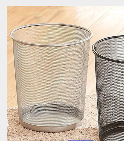 Thùng rác lưới kim loại bền-đẹp-kiểu dáng hiện đại - giao màu ngẫu nhiên