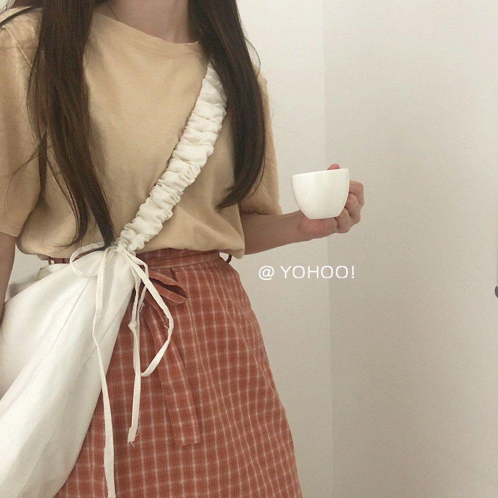 Túi Vải Đeo Chéo Dây Rút XinhStore Mẫu Trơn