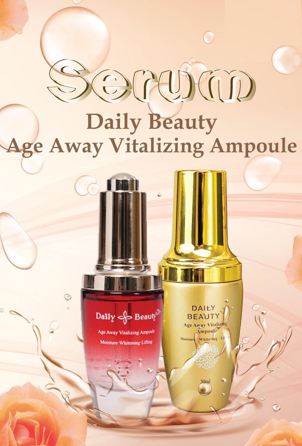 Combo 3 hộp Serum Daily Beauty Age Away Vitalizing Ampoule Đánh Thức Thanh Xuân sản phẩm nhập khẩu chính ngạch Hàn Quốc