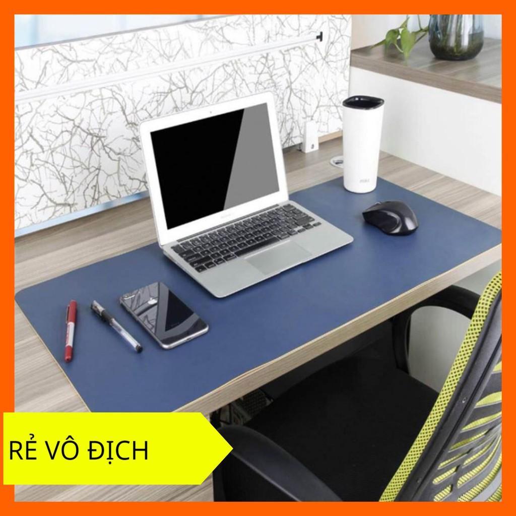 Tấm Deskpad Da PU Lót Trải Bàn Làm Việc Chống Thấm Nước, Nhiều Màu, Nhiều Size