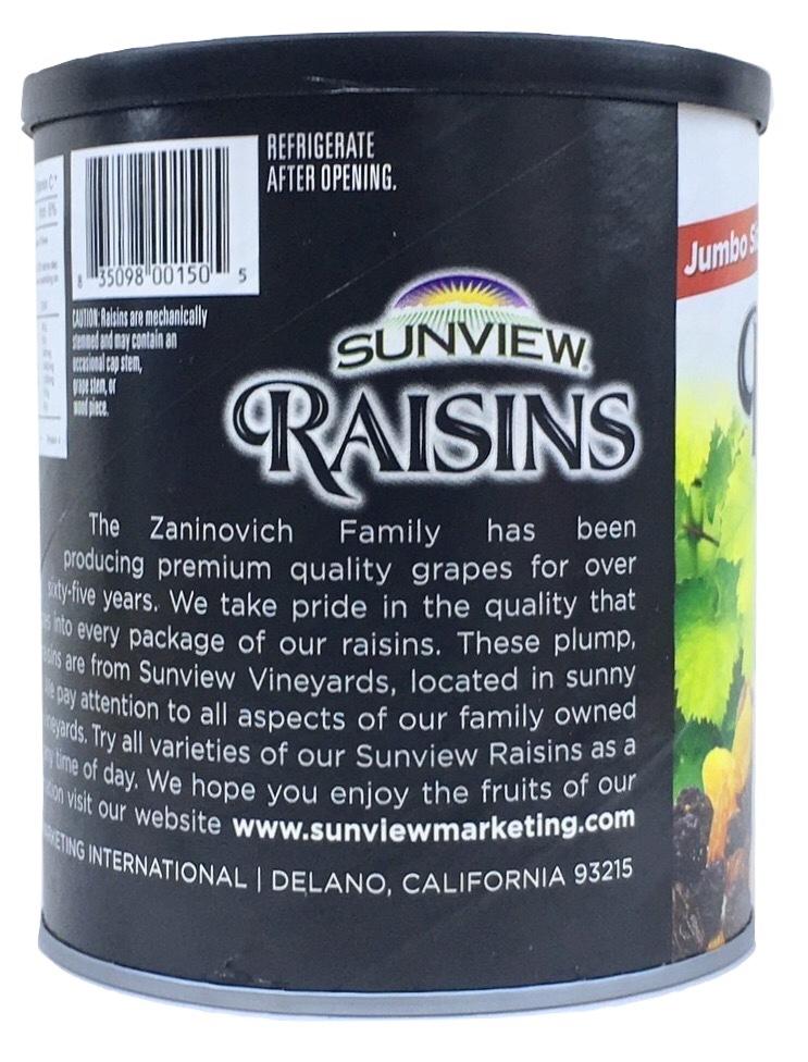 Nho Khô Mỹ Không Hạt Sunview Raisins 425g (Nho Thập Cẩm)
