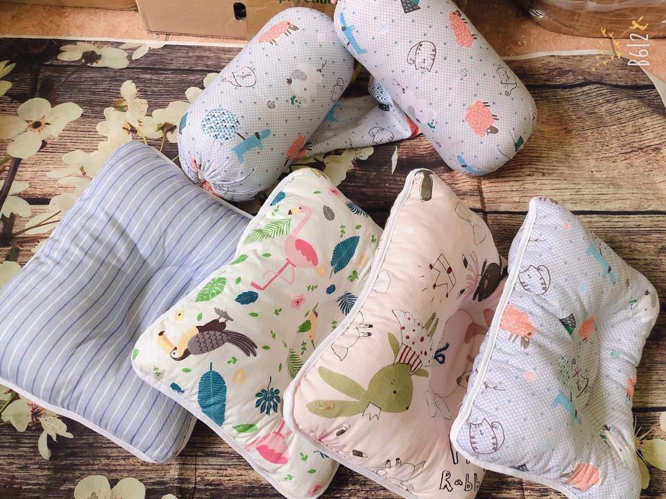 Set Gối Và Chặn Gối Cotton Loại Tốt Siêu Mềm Việt Nam Xuất Khẩu (Màu ngẫu nhiên)