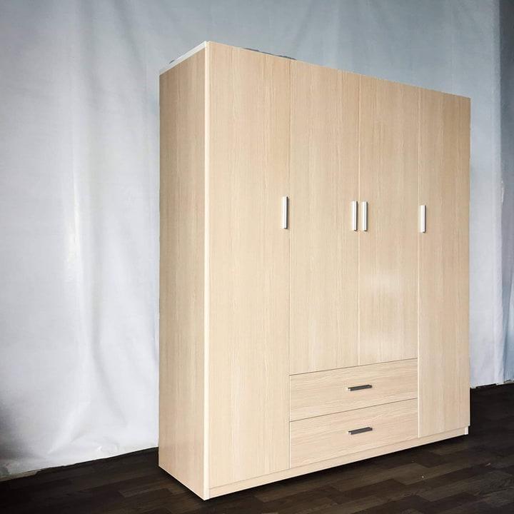 Tủ quần áo nhựa Đài Loan cao cấp - VTN - 4 cánh dài 1m65 cao 1m85