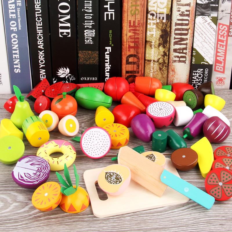 Đồ Chơi Hộp Cắt Củ Quả Wooden Fruit, Vegetables Game - 20 chi tiết ( Từ 2-4 tuổi)
