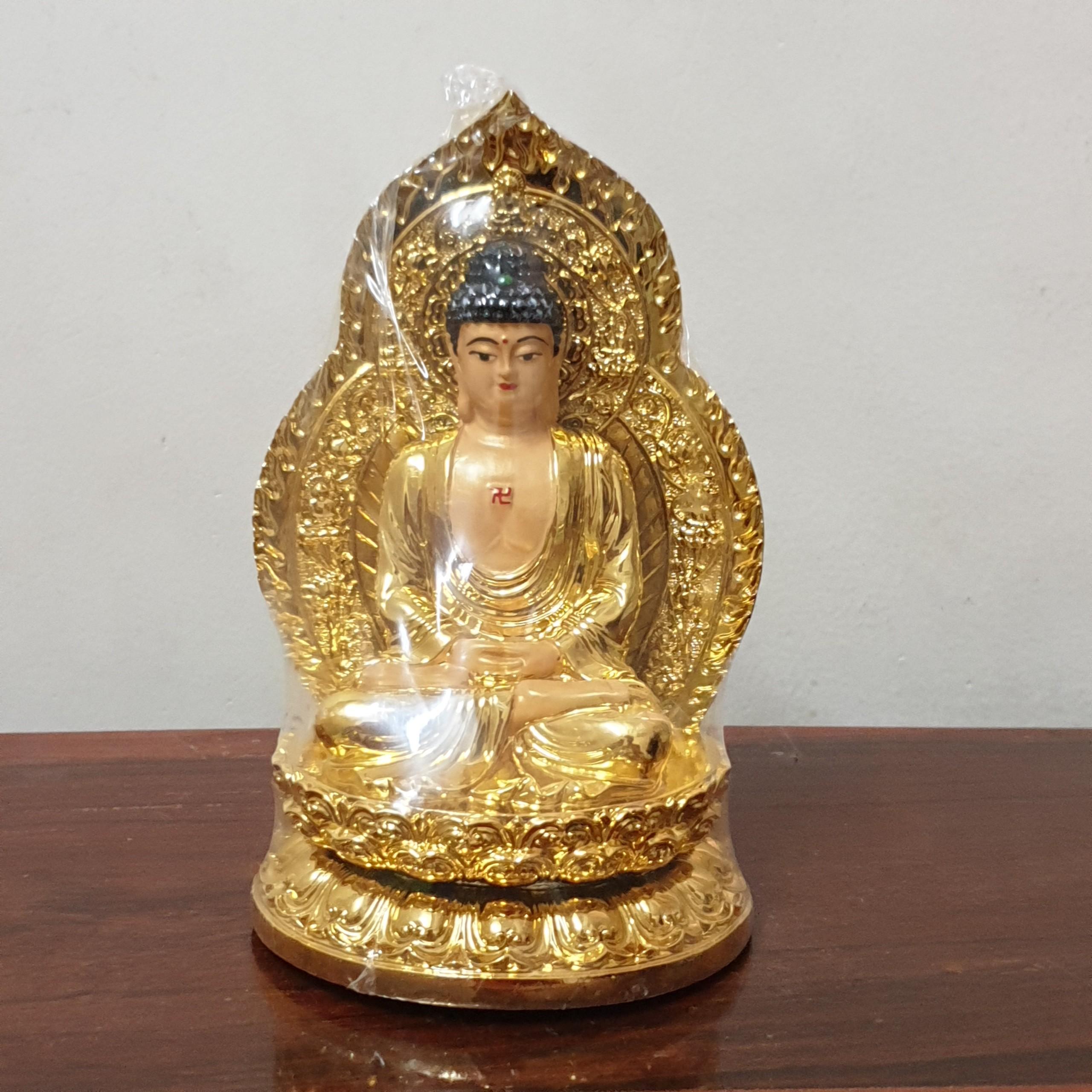Tượng Phật A Di Đà Vượng Cát Vàng Đồng Trang Trí Nhà Cửa, Xe Hơi OB02