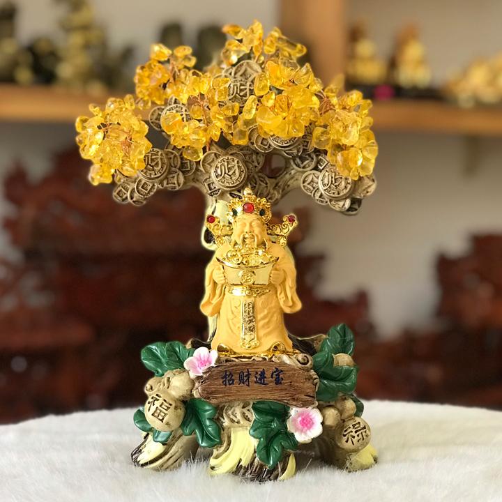 Cây Tài Lộc Thần Tài Thạch Anh Vàng