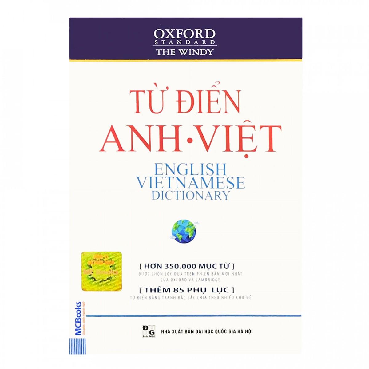 Từ Điển Oxford Anh - Việt (Hơn 350.000 Từ) (Bìa Mềm Màu Trắng) (Tặng Kèm Bút Hoạt Hình Cực Xinh)