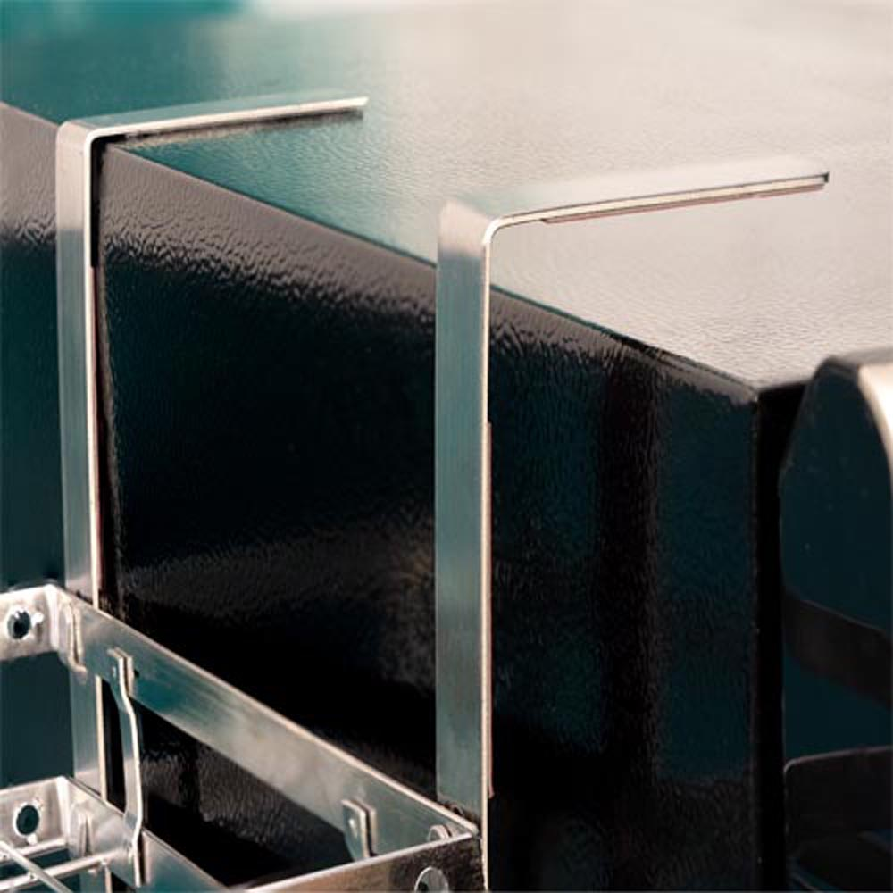 Kệ treo tủ lạnh 3 tầng đa năng Foodcom chất liệu inox không han gỉ sử dụng keo 3M chắc chắn, tiết kiệm không gian gia đình