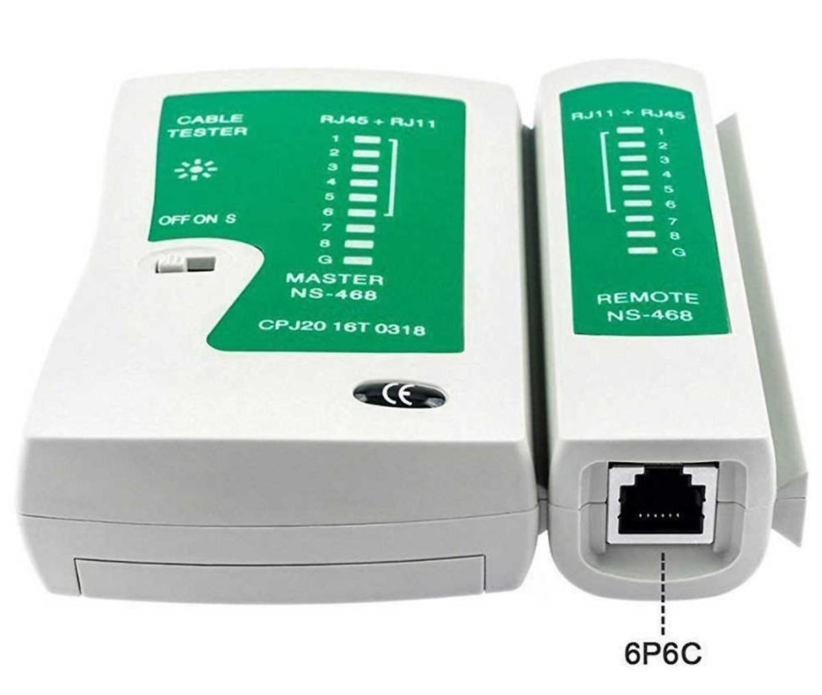 Combo Kìm Bấm Hạt Mạng(RJ45+RJ11) + 100 Hạt mạng RJ45 + 100 đầu chụp hạt mạng + Hộp Test mạng