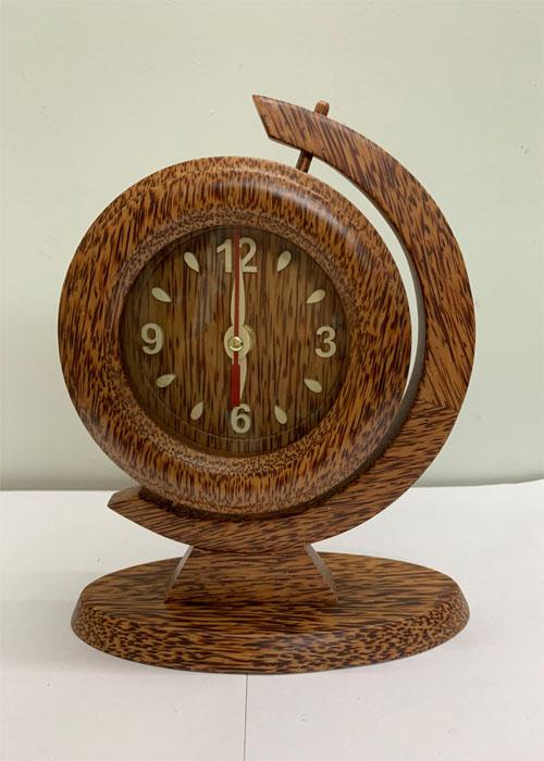 Đồng hồ tròn quay gỗ dừa