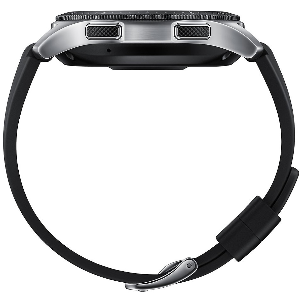 Combo Đồng hồ thông minh Samsung Galaxy Watch 46mm Sliver Bluetooth và dây thép màu bạc - Hàng nhập khẩu