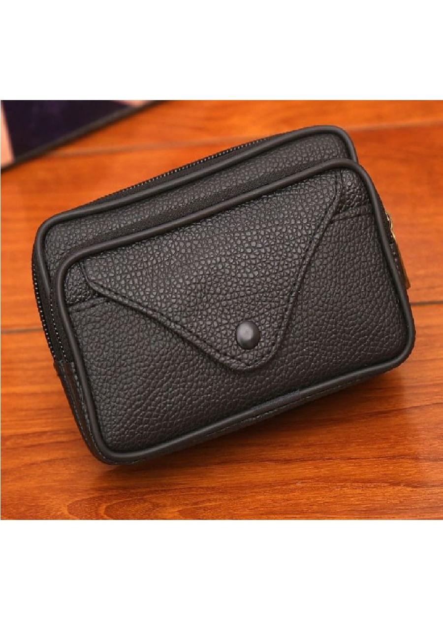 Túi đựng điện thoại da PU đeo ngang hông kiểu ngang T4 có 3 ngăn - Túi đeo thắt lưng giả da PU kiểu ngang - đen, nâu.