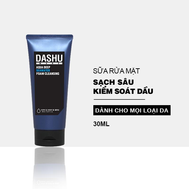 Sữa rửa mặt nam chính hãng Hàn Quốc DASHU sạch sâu kiểm soát nhờn dành cho mọi loại da 30ml JN-SRM04