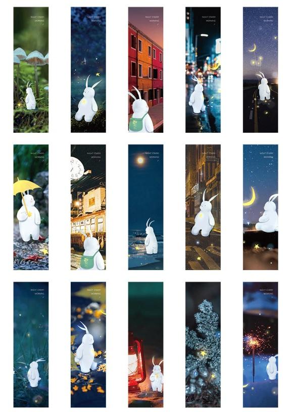 Hộp 30 Bookmark Đánh Dấu Sách Giấc Mơ Huyền Ảo - Nhật Ký Chú Thỏ