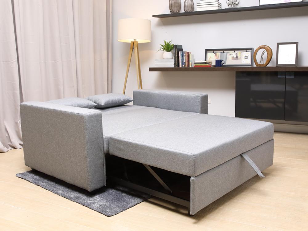 Sofa Giường SPACO/L Màu Xám Index Living Mall